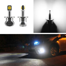 2Pcs Auto H3 Led Replacement Fog Bulbs Car Daytime Running Light 6000K White 12V(Fits: Neon)