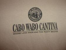 Cabo Wabo Cantina tan M t shirt party begins