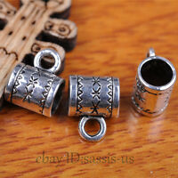 100pcs Charms Tibet Silver Connector Bails Fit Pandent DIY Jewery Making A7291