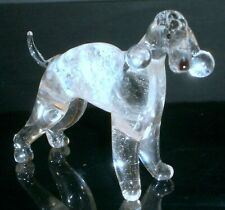 """HAND MADE  BLOWN """"MURANO"""" GLASS COLLECTABLE  BEDLINGTON TERRIER DOG  FIGURINE"""