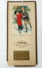 Vintage Bendheim's Shoe Store Wall Calendar 1919 East Liverpool Ohio