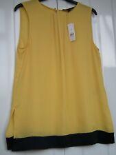 Banana Republic Yellow/Navy Cami Blouse Top Size Small