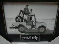 ROAD TRIP Photo Frame Black  4 x 6 Photo 8 x 6 Frame NIB Malden