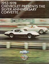 Chevrolet Corvette Silver Anniversary 1978 USA Market Foldout Sales Brochure