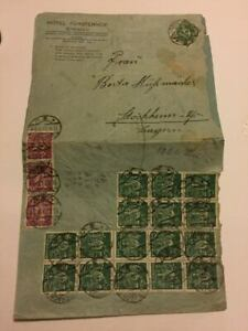 German stamps cover old high value 20 stamps cat 1000 pound