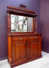 English Edwardian Mirror Back WALNUT Dresser DINING original resawreck-antiques