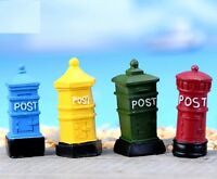FD3572 Miniature Dollhouse Garden Craft Fairy Bonsai Decor ~Post Mailbox~ 1PC