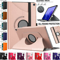 360 Rotate Smart Stand Case Cover for Samsung Galaxy Tab A7 10.4 S6 Lite A 10.1""