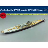 TMW 1/700 Wooden Deck for Trumpeter 05705 USS BB-63 Missouri 1991 Ship Model