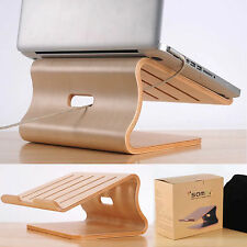 New Wood Wooden Laptop Cooling Stand Holder Dock Tray for Apple  Macbook Air Pro