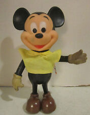"Vint Hong Kong Walt Disney / Dakin Mickey Mouse posable 8"" figure w yellow shirt"