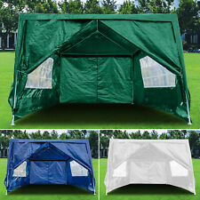 More details for 3m x 4m heavy duty gazebo waterproof marquee canopy garden wedding party tent