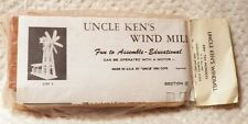 Vintage Uncle Ken's Windmill Fun to Assemble Educational Wooden Toy Model NIP