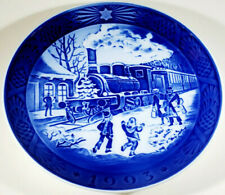 Christmas Guests / Train 1993 - Royal Copenhagen Denmark Collector Plate