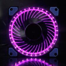 Eclipse Purple LED Light 12V 12cm 120mm 120x120x25mm PC CPU Case Cooling Fan