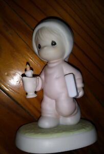 EUC Precious Moments Figurine Now I Lay Me Down To Sleep