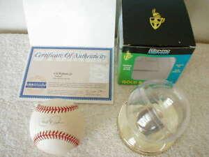 CAL RIPKEN, JR SIGNED BASEBALL & Certificate of Authenticity