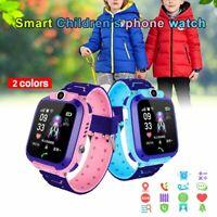 Waterproof Kid Smart Watch GPS GSM Locator Tracker Call Anti-Lost Game Music PQ