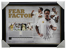 Mitchell Johnson Signed Fear Factor ACB Test Cricket Australia Print Framed
