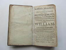 Stafford's Memoires, Catholic political tract published 1682, rare title