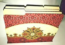 New File Holder and 6 Matching Files Desk Accessory Punch Studio