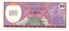 Suriname  100 gulden  1985   FDS  UNC  pick 128    lotto 3223