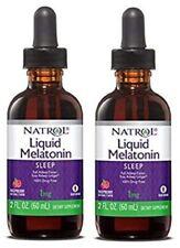 Natrol Liquid Melatonin Sleep 1mg Flavored, 2 Fl Oz (2 Pack) Exp 04/19