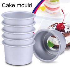 "1PC 2"" Aluminum Alloy Round Mini Cake Pan Removable Mold DIY Baking Tools SKY"