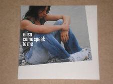ELISA - COME SPEAK TO ME - RARO CD SINGLE PROMO UK
