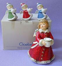 Lot 4 pcs Vintage Goebel Angel Candle Holder 42 009 09 & Frabek Angel 42 329 22