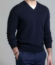 "MEN`S NEW ZARA V-NECK JUMPER SIZE LARGE 42"" NAVY AUTHENTIC TOP"