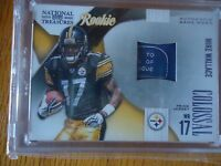 2009 NATIONAL TREASURE ROOKIE LANDRY TAG MIKE WALLACE 7/50 PITTSBURG STEELERS