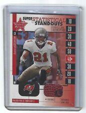 DONNIE ABRAHAM; 2001 Leaf R & S GU Football Relic Football Card #221; SER/50