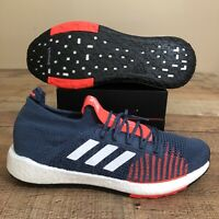 Adidas PulseBoost HD Tech Ink Mens Running Shoes Grey Orange size 12 FU7337 NWT