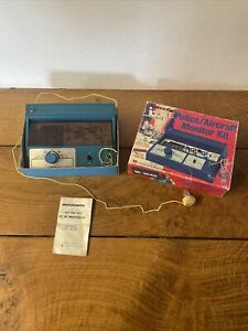 Rare Vintage Science Fair Police Aircraft Monitor Kit Boxed Working VHF Receiver