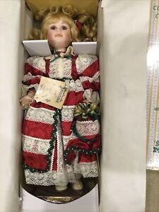 "Seymour Mann Connoisseur Collection Ashley 20"" Porcelain Doll in original Box"