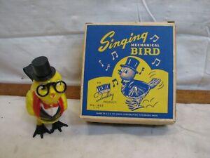 Vintage Irwin Singing Mechanical Bid Wind-Up Walking Toy w/Box NOS USA 660