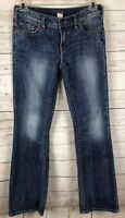 Silver Jeans Women's Aiko Boot Cut Distressed Blue Jeans Size 30