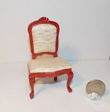 Dollhouse Miniature Upholstered Side Chair Mahogany 1:12 N49  Dollys Gallery