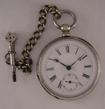 "Fully Serviced 120-Years-Old CYLINDRE ""G.T"" KW/KS Swiss Pocket Watch Perfect"