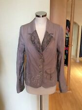 Faber Jacket Size 20 Bnwt Beige With Brown Trim Rrp £199 Now £39