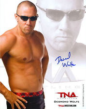 DESMOND WOLFE TNA SIGNED AUTOGRAPH 8X10 PROMO PHOTO W/ PROOF