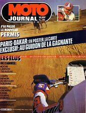MOTO JOURNAL  681 KAWASAKI 454 Ltd 500 EN HUSQVARNA 125 XC PARIS DAKAR 1985