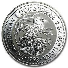 1993 Australia 2 oz Silver Kookaburra BU - SKU #14751