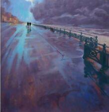 """NUOVO ORIGINALE MARCHIO Harrison """"è bello a uscire"""" Brighton Sussex pittura ad olio"""