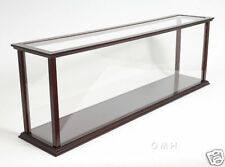 "Wooden Table Top Ship Model Display Case for 32"" Ocean Liner & Cruise Ships New"
