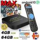 2021 NANO MAX 4GB+64GB Android TV Box 10.0 HD Media Player 2.4/5GHz WiFi BT HDMI