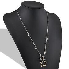 Fashion Women Sexy Crystal Rhinestone Stars Pendant Long Chain Necklace Jewelry