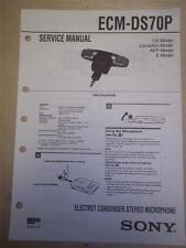 Sony Service Manual~ECM-DS70P Electret Condenser Microphone~Original~Repair