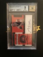 2011 Playoo Contenders Rookie Ticket Andy Dalton Auto Bgs 9/10 #225a